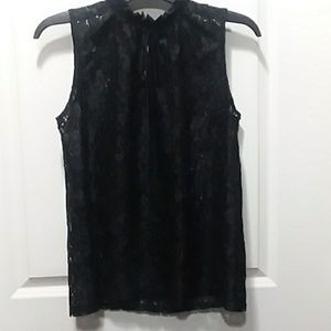 Worthington Lace Sleeveless Blouse Sz L
